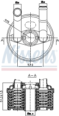 Radiateur huile NISSENS 90666 (X1)