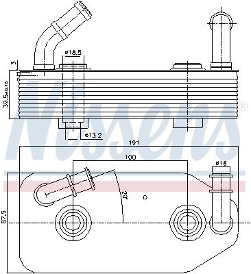 Radiateur huile NISSENS 90667 (X1)