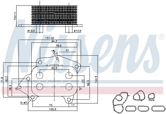 Radiateur huile NISSENS 90670 (X1)