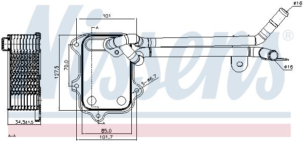 Radiateur huile NISSENS 90679 (X1)