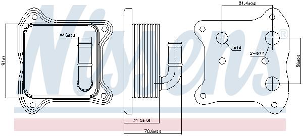 Radiateur huile NISSENS 90680 (X1)