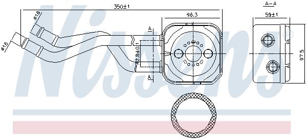 Radiateur huile NISSENS 90685 (X1)
