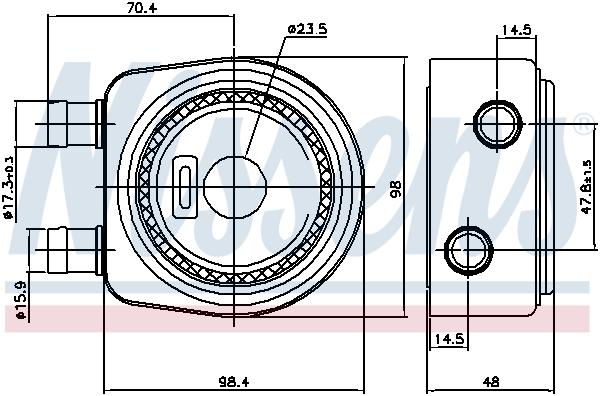 Radiateur huile NISSENS 90697 (X1)