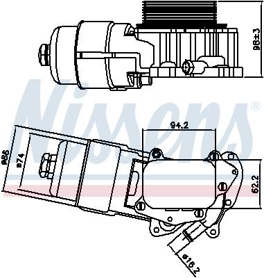 Radiateur huile NISSENS 90703 (X1)