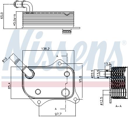 Radiateur huile NISSENS 90711 (X1)