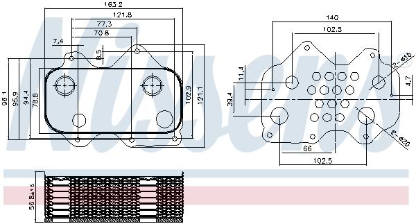 Radiateur huile NISSENS 90712 (X1)