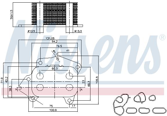 Radiateur huile NISSENS 90717 (X1)