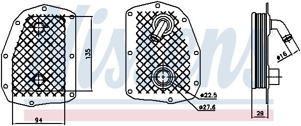 Radiateur huile NISSENS 90734 (X1)