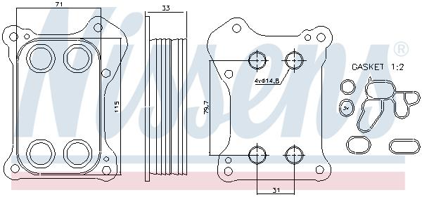 Radiateur huile NISSENS 90739 (X1)