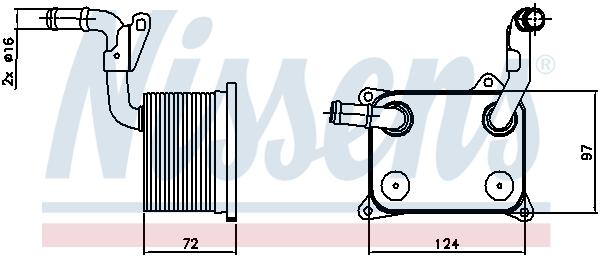 Radiateur huile NISSENS 90744 (X1)
