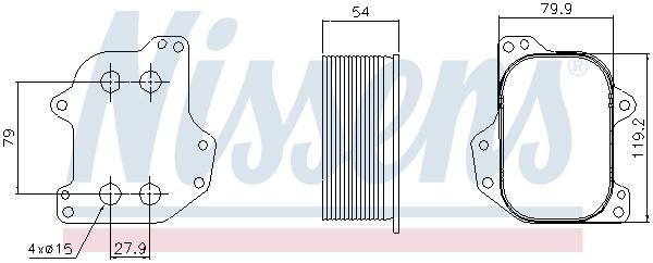Radiateur huile NISSENS 90745 (X1)