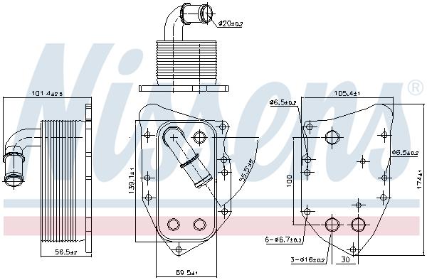 Radiateur huile NISSENS 90805 (X1)
