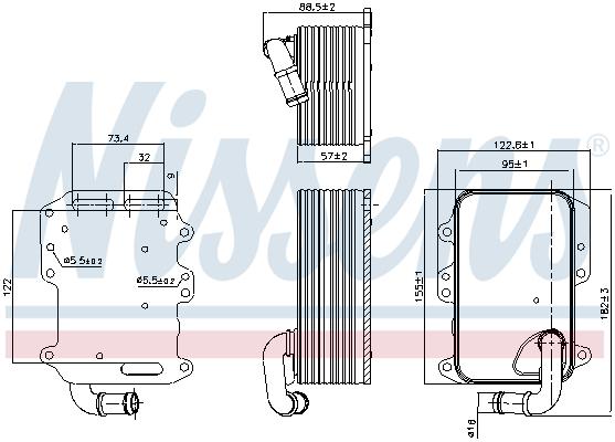 Radiateur huile NISSENS 90807 (X1)