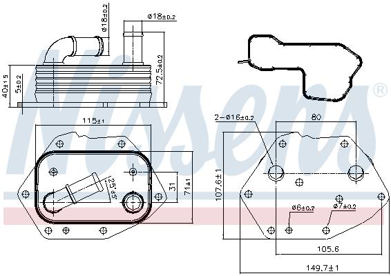 Radiateur huile NISSENS 90808 (X1)