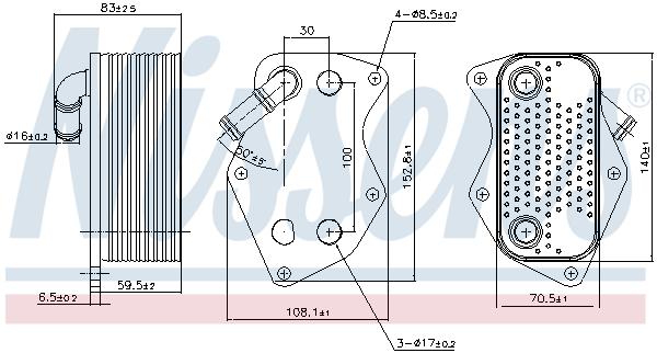 Radiateur huile NISSENS 90809 (X1)