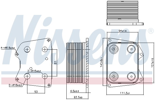 Radiateur huile NISSENS 90824 (X1)