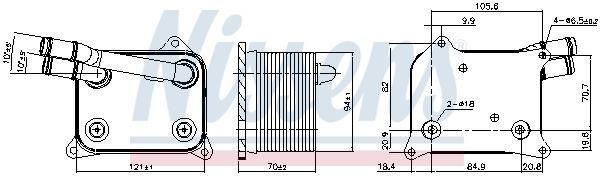 Radiateur huile NISSENS 90839 (X1)