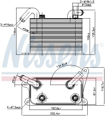 Radiateur huile NISSENS 90841 (X1)