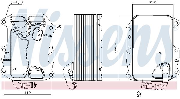 Radiateur huile NISSENS 90852 (X1)