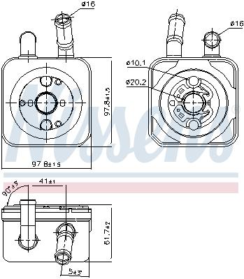 Radiateur huile NISSENS 90853 (X1)