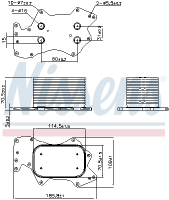 Radiateur huile NISSENS 90910 (X1)