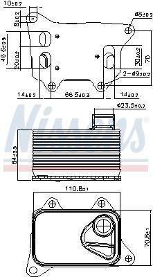 Radiateur huile NISSENS 90914 (X1)