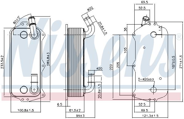 Radiateur huile NISSENS 90916 (X1)