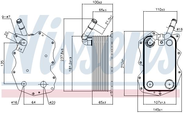 Radiateur huile NISSENS 90917 (X1)