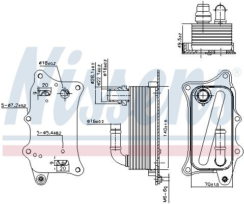 Radiateur huile NISSENS 90918 (X1)