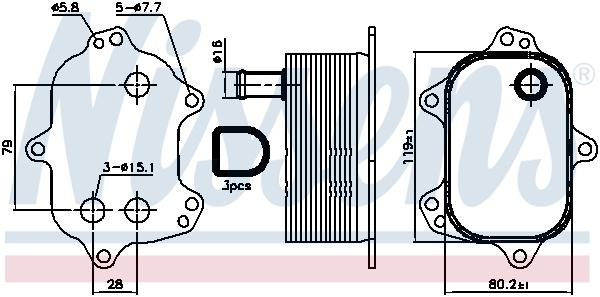 Radiateur huile NISSENS 90960 (X1)