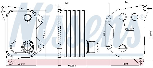Radiateur huile NISSENS 90994 (X1)