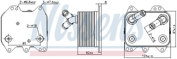 Radiateur huile NISSENS 90995 (X1)