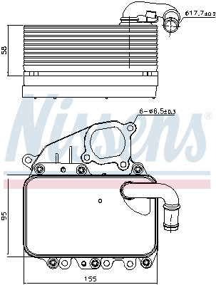 Radiateur huile NISSENS 91100 (X1)