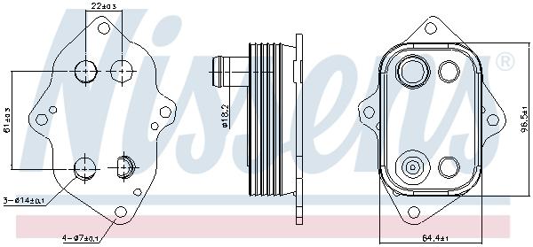 Radiateur huile NISSENS 91103 (X1)