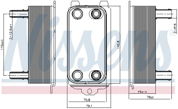 Radiateur huile NISSENS 91116 (X1)