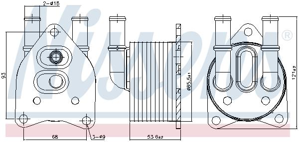 Radiateur huile NISSENS 91123 (X1)
