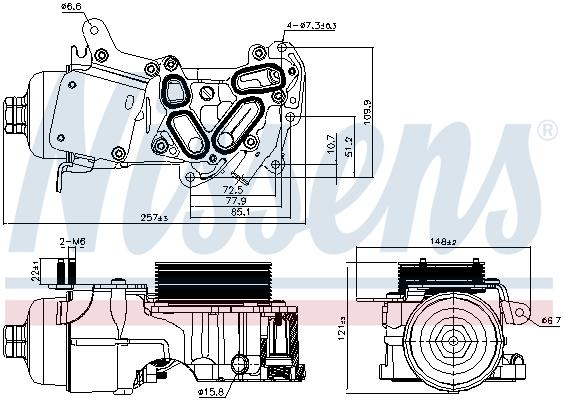 Radiateur huile NISSENS 91124 (X1)