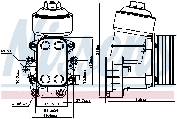 Radiateur huile NISSENS 91158 (X1)