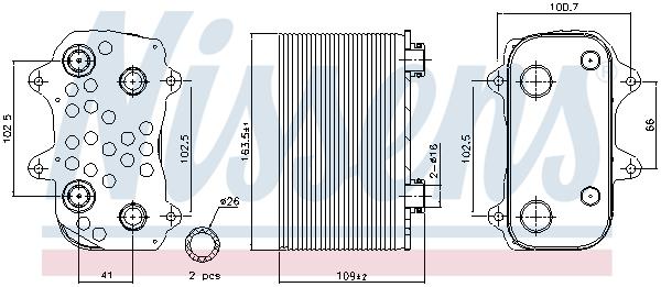 Radiateur huile NISSENS 91164 (X1)
