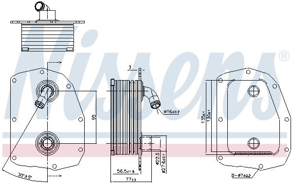 Radiateur huile NISSENS 91179 (X1)