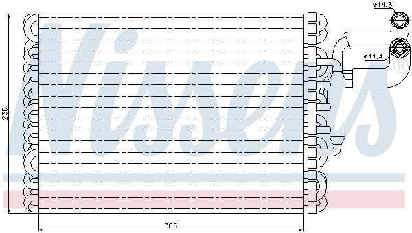 Evaporateur NISSENS 92059 (X1)