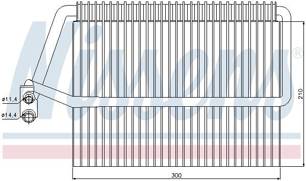 Evaporateur NISSENS 92162 (X1)