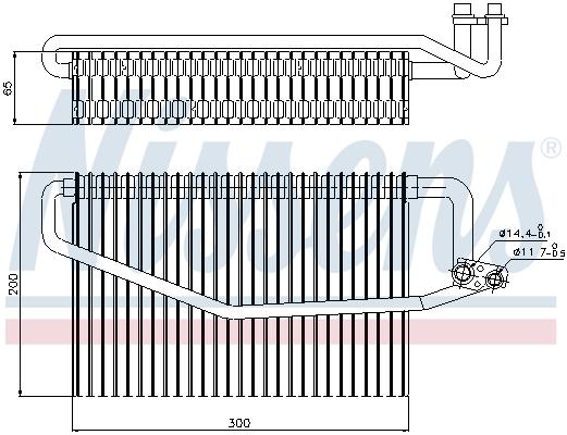 Evaporateur NISSENS 92173 (X1)