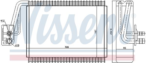 Evaporateur NISSENS 92174 (X1)