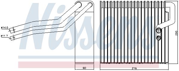 Evaporateur NISSENS 92184 (X1)