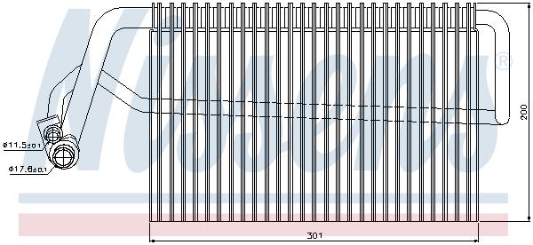 Evaporateur NISSENS 92221 (X1)
