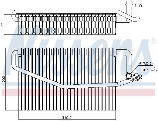 Evaporateur NISSENS 92245 (X1)