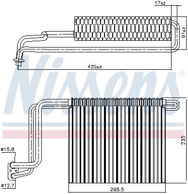 Evaporateur NISSENS 92248 (X1)