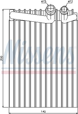 Evaporateur NISSENS 92249 (X1)