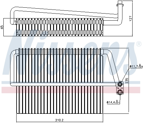 Evaporateur NISSENS 92300 (X1)